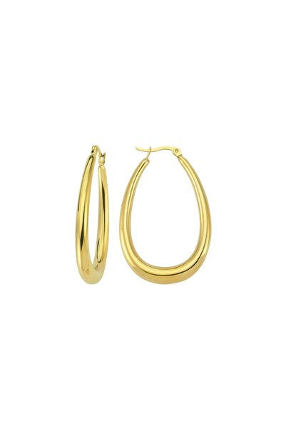 Luzdemia Oval Hoop Earring - Gold