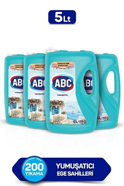ABC Çamaşır Yumuşatıcısı Ege Sahilleri 5 Litre X 4 Adet