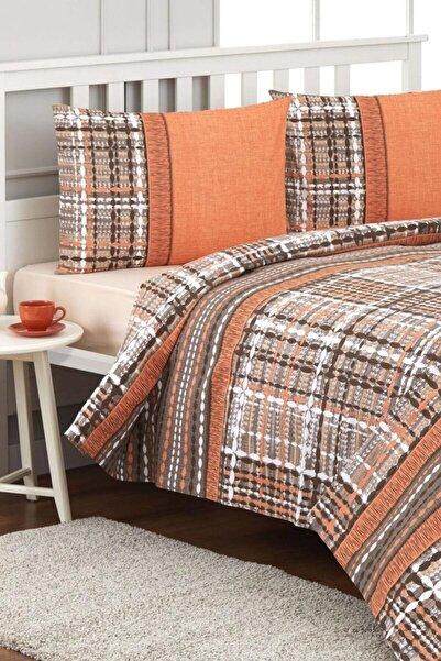 Özdilek Çift Kişilik Pike Takımı Tweed  Oranj