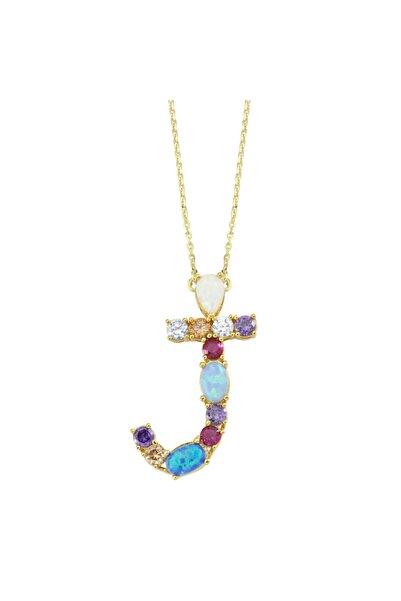 Luzdemia Opal Initial J Kolye 925