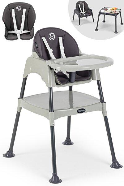Elele Çalışma Masalı Mama Sandalyesi Gri-antresit
