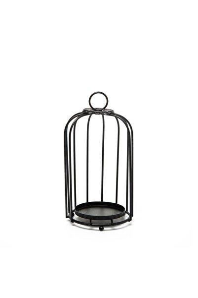 Emka Küçük Kafes Mumluk - Siyah