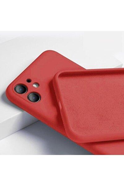 """Teknoçeri Iphone 11 6.1"""" 3d Kamera Korumalı Içi Kadife Lansman Silikon K��lıf"""