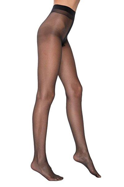 EMINNA Siyah Izsiz Külotlu Çorap Fit 15