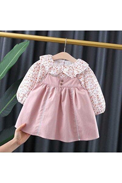 Little Honey Bunnies Çiçek Desenli Gömlek Ve Pembe Elbise