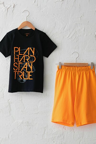 LC Waikiki Erkek Çocuk Yeni Siyah Cvl Pijama Takımı