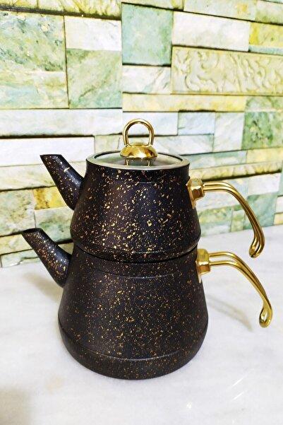 Kahramanlar Elegance Granit Çaydanlık Seti- Siyah