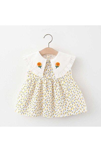 Little Honey Bunnies Ayçiçek Yaka Detaylı Sarı Elbise
