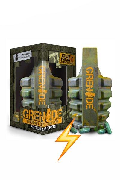 Grenade Thermo Detonator 100 Kapsül Enerji Güç Kafein Yeşil Çay Turunç Ekstresi