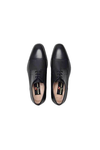 Nevzat Onay Siyah Bağlı Hakiki Deri Kösele Ayakkabı