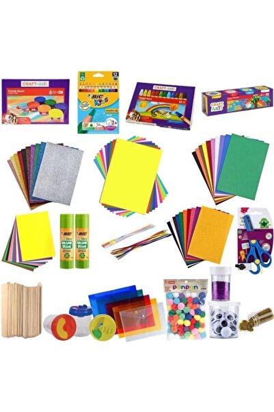 Craft and Arts Anaokulu Okul Öncesi Başlangıç Kırtasiye Seti 16 Eşit 61 Parça