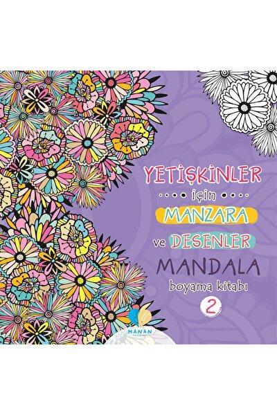 Mor Elma Yayıncılık Yetişkinler Için Manzara Ve Desenler Mandala Boyama Kitabı-2