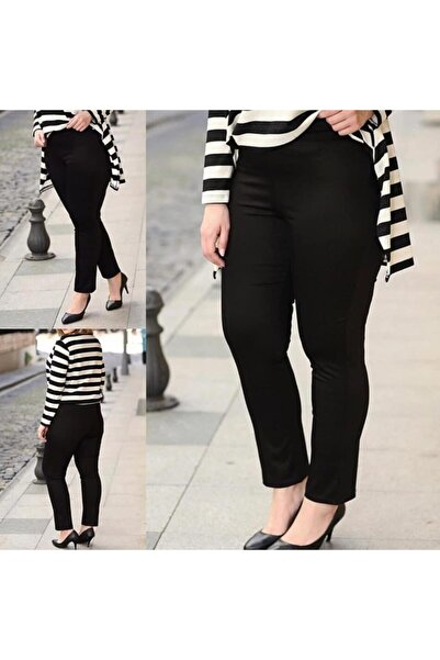 Modabuyukbedengiyim Bayan Siyah Pantolon