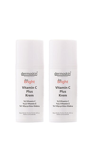 Dermoskin Be Bright Leke Giderici Ve Nemlendirici Vitamin C Plus Krem 33 ml 2'li Avantaj Paket