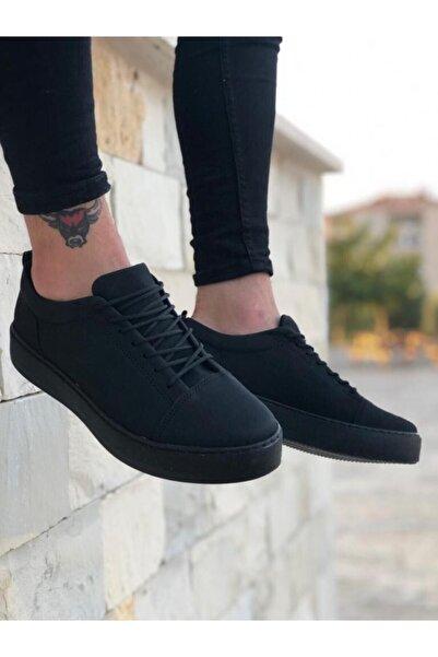 BOA Ba0104 Bağcıklı Nubuk Siyah Spor Klasik Erkek Ayakkabı