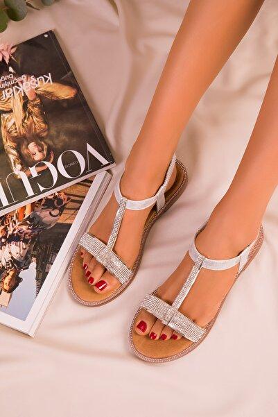 SOHO Gümüş Kadın Sandalet 15911