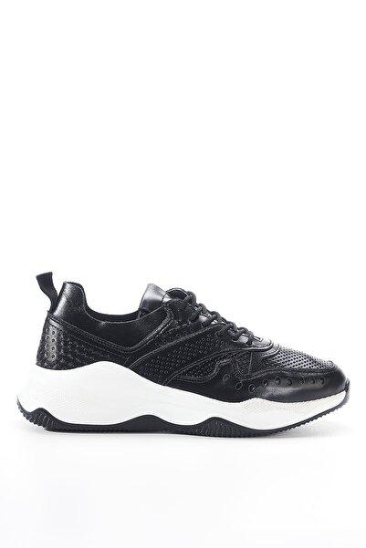 Louis Cardy Nixus Siyah Hakiki Deri Kadın Sneakers