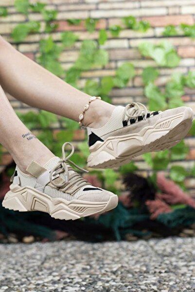 Riccon Kadın Kahverengi Sneaker 0012104