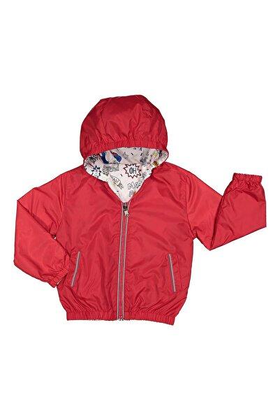 Midimod Erkek Çocuk Yağmurluk Mont Trençkot 2-5 Yaş Kırmızı M19168