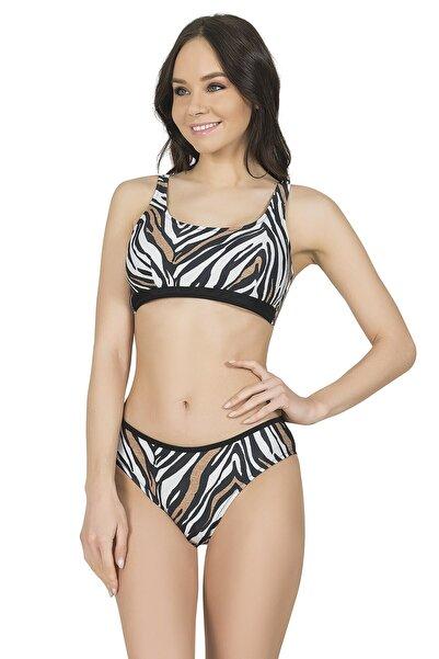 Endeep Kadın Kaplan Desen Bikini Takımı