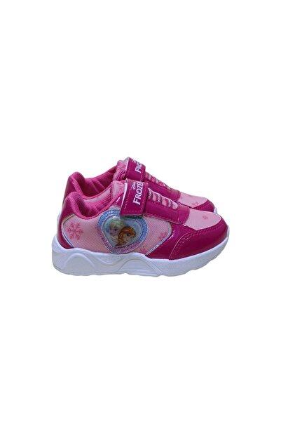 Frozen Kız Çocuk Işıklı Spor Ayakkabı - Pembe - 29