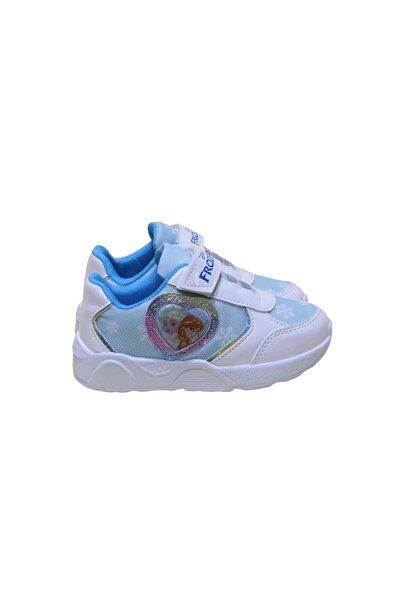 Frozen Kız Çocuk Işıklı Spor Ayakkabı - Beyaz - 26