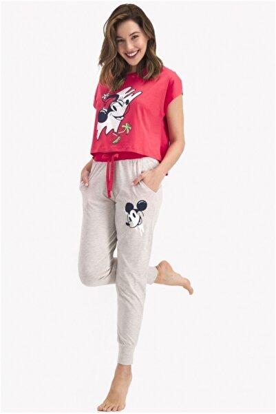 DISNEY Kadın Nar Çiçeği Pijama Takım