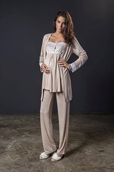 Bondy Wedding 17213 3'lü Hamile Lohusa Pijama Takımı