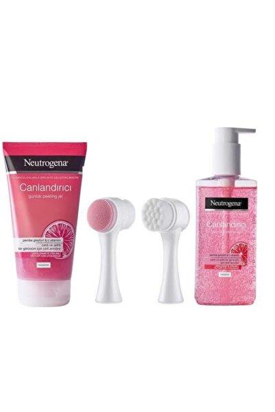 Neutrogena Visibly Pembe Greyfurt Canlandırıcı Peeling Jel + Temizleme Jeli 200 ml Ve Fırçası