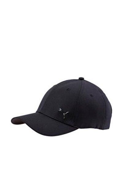 Unisex Siyah Metal Cat Cap Şapka 021269-01