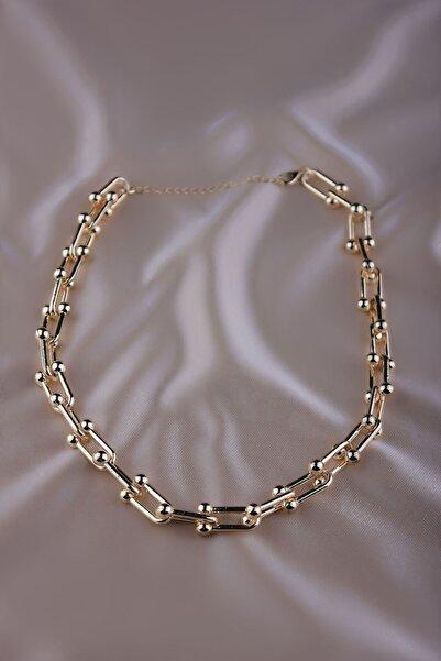 The Y Jewelry Kadın Sarı Tiffany Kolye