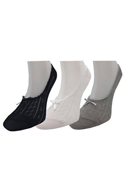 Igloo Socks Igloo File Dantelli Fiyonklu 3'lü Kadın Babet
