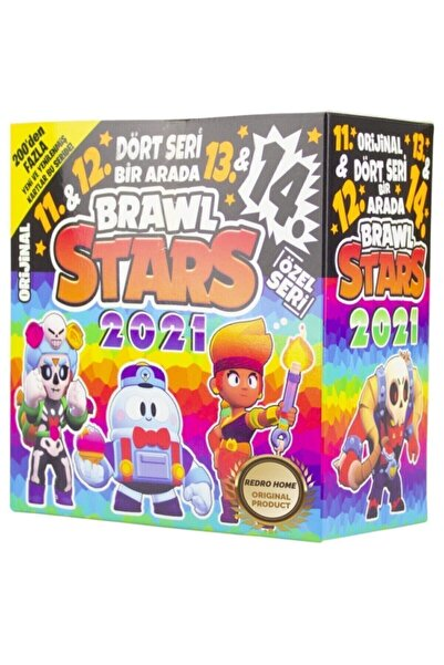 BRAWL STARS 11. - 12. - 13. - 14. Seri Özel Set 2021 Yeni Karakter (150 Poşet=450 Adet Kart)