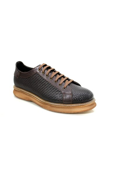 Beta Shoes Erkek Hakiki Deri Günlük Ayakkabı Kahve