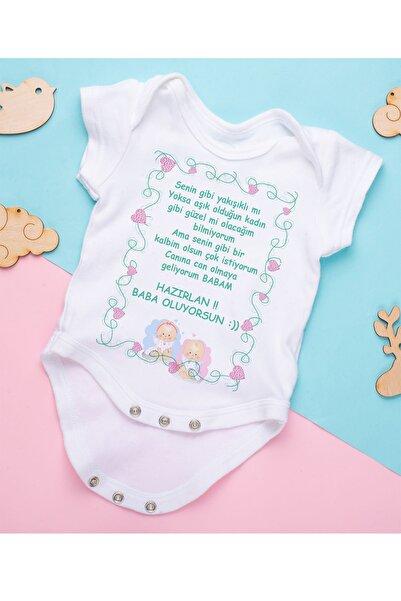 hamiletshirtum Hazırlan Baba Oluyorsun Organik Baskılı Zıbın Body