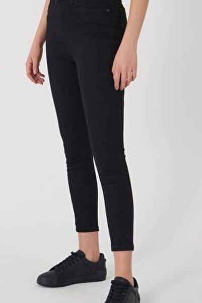 Kadın Siyah Yüksek Bel Pantolon Pn8560 - Pnspnt Adx-0000014371
