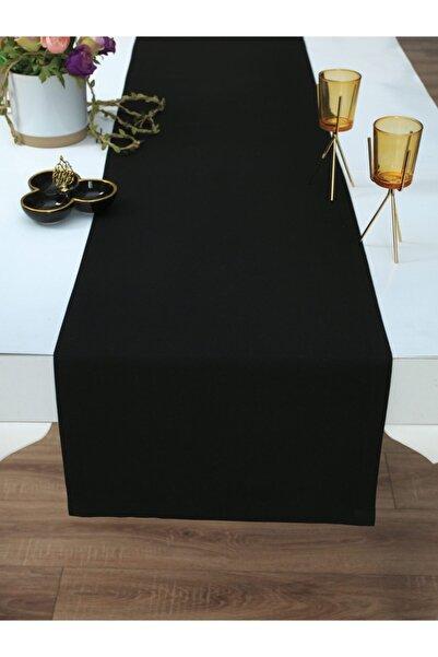 Tropikhome Pamuklu Siyah Renkli Runner 40x170