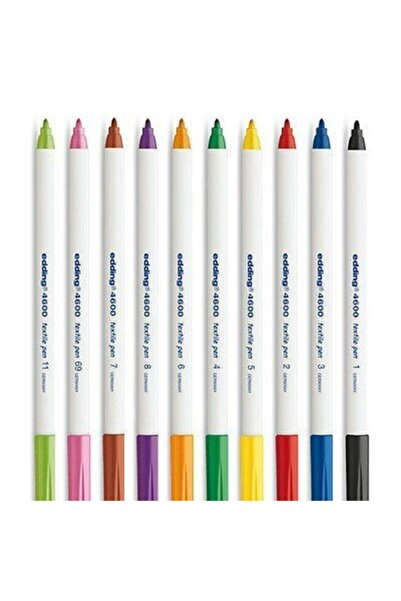 Edding Beyaz E-4600 Kumaş Boyama Tekstil Kalemi 10'lu