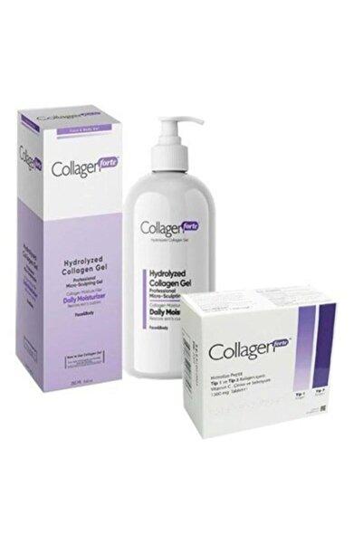Collagen Forte Yüz Ve Vücut Jeli 250 Ml+ 1300 Mg 90 Tablet