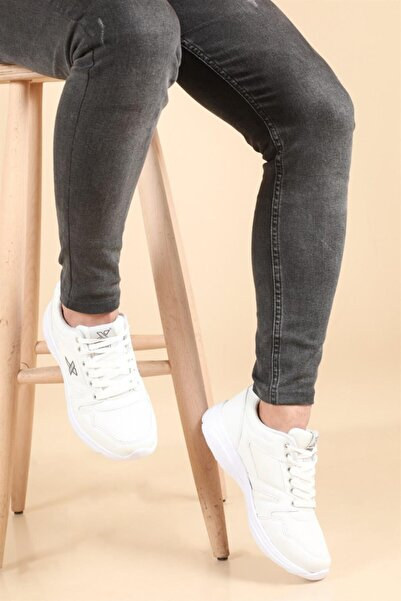 Kozzam Unisex Beyaz Sneakers Spor Ayakkabı