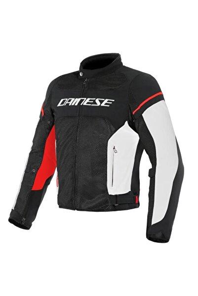 Dainese Kadın Sıyah Daınese Air Frame D1 Tex Jacket Black Whıte Red