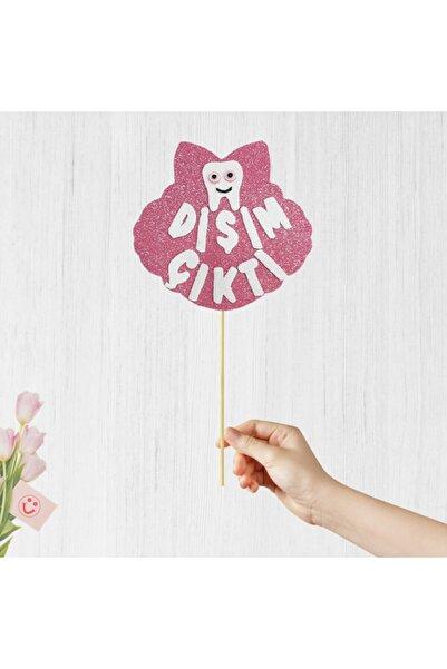 Süsle Baby Party Dişim Çıktı Pembe Konuşma Balonu Çubuğu