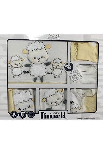Miniworld Unisex Bebek Yeni Sezon Hastane Çıkış Seti Kuzulu 10 Parça