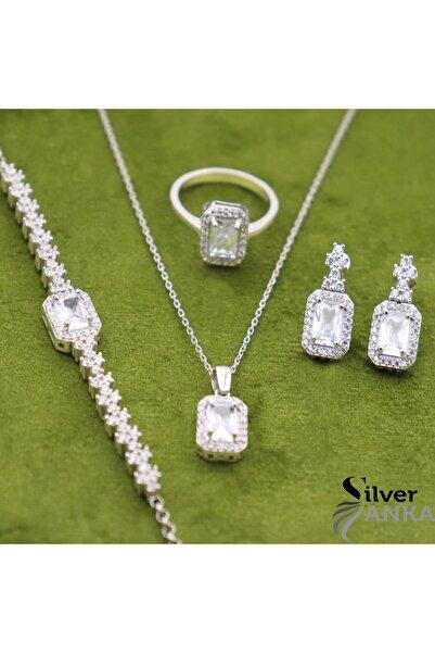 Silveranka 925 Ayar Gümüş Baget 4' Lü Set