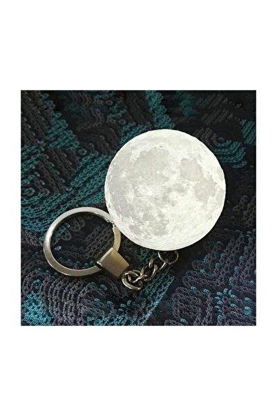Led Anahtarlık 3d Moon Lamba Işıklı Ay Anahtarlık
