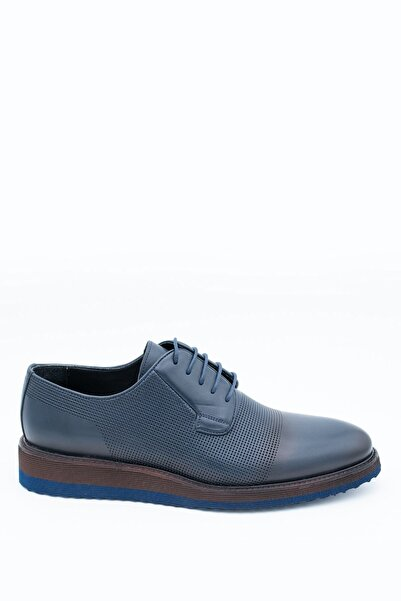 İgs Erkek Lacivert Deri Günlük Ayakkabı I20s-459-1 M 1000