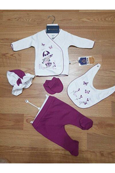 Nonna Baby Kız Bebek Kroşetalı Hastane Çıkışı Set 5 Li