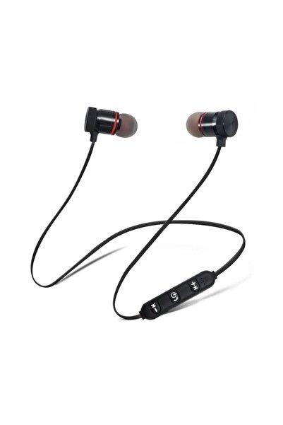 TP Pro Sport Kablosuz Mıknatıslı Mikrofonlu Bluetooth Kulaklık Siyah