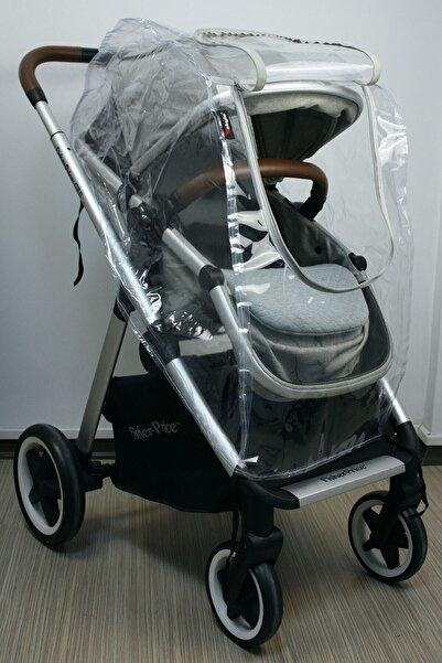 Stylo Fermuarlı Bebek Arabası Yağmurluğu (buğu Tutmaz Pencereli)