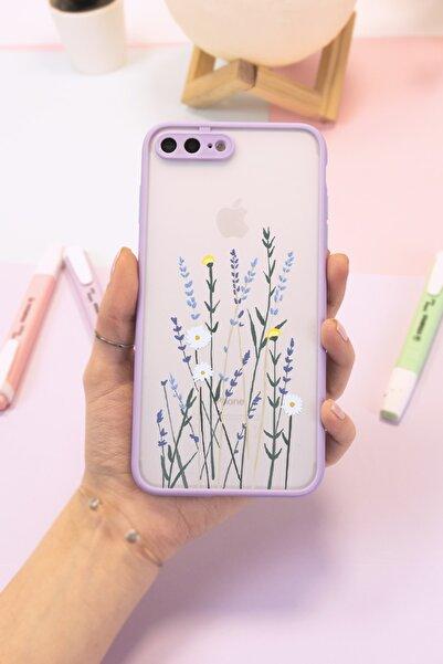 Spoyi Iphone 7 Plus - 8 Plus Lila Hux Soft Lavander Tasarımlı Telefon Kılıfı